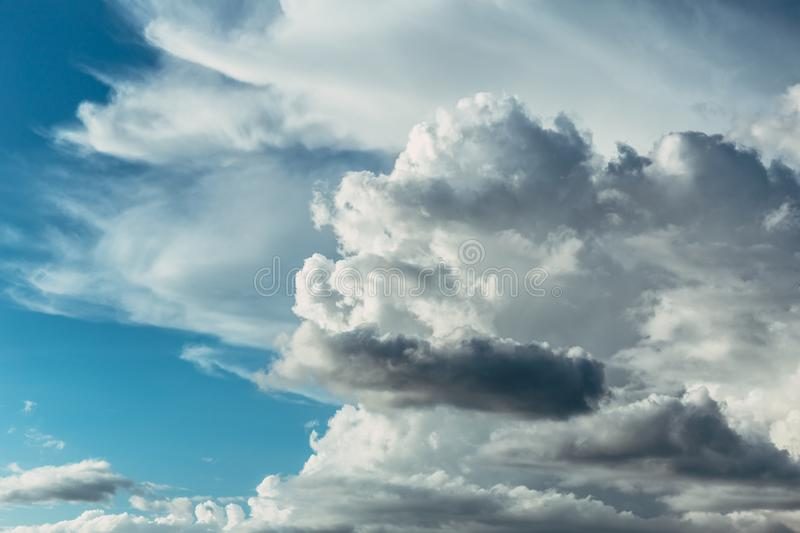 Dramatic big cloudy skyscape view f royalty free stock images