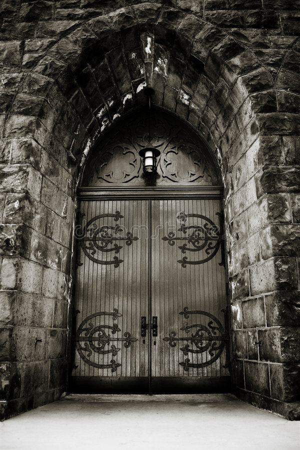 Free Dramatic Church Door Stock Images - 5580164