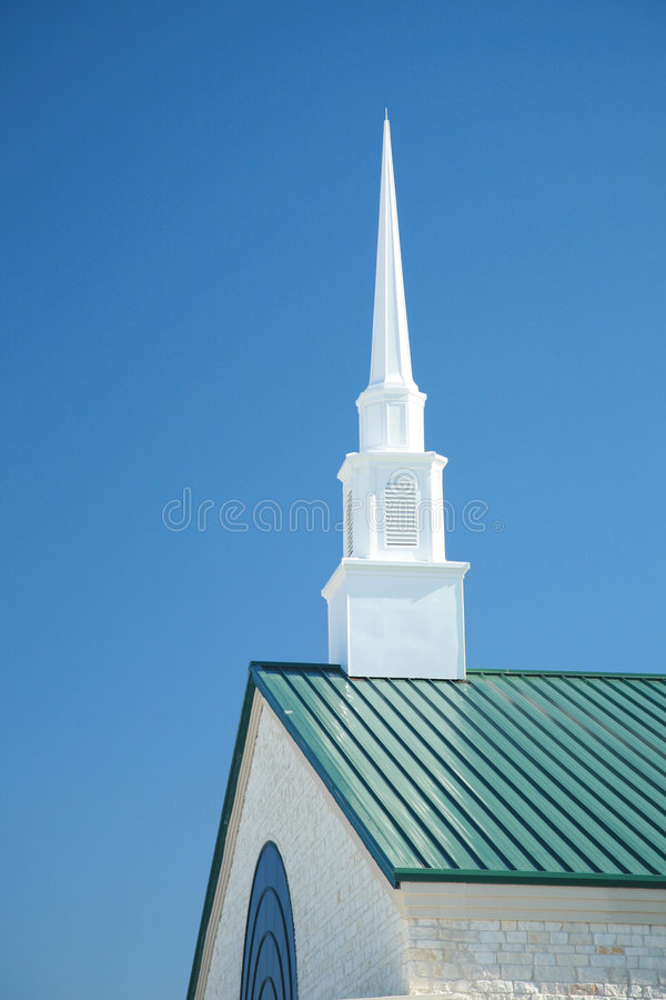 Dramatic Church Spire royalty free stock photos