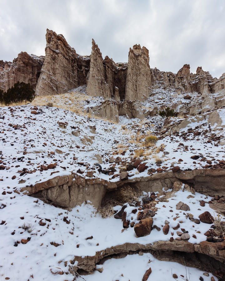 Dramatic Cliffs of New Mexico stock images