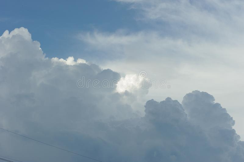 Dramatic cloud in the sky stock photography