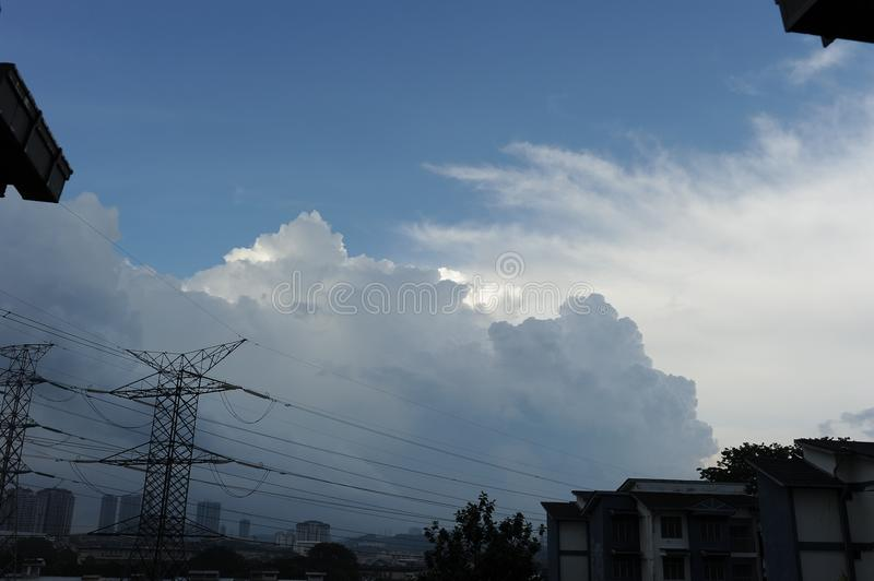 Dramatic cloud in the sky royalty free stock photo