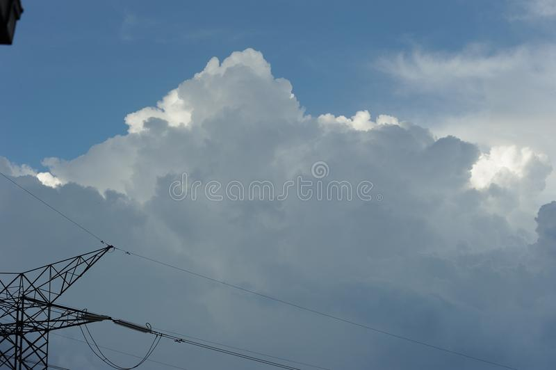 Dramatic cloud in the sky royalty free stock photos