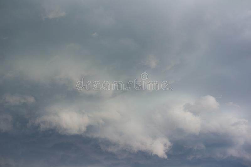 Dramatic cloud and stormy cloudy sky before storm royalty free stock image