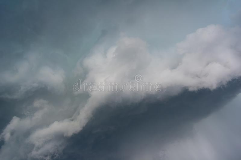 Dramatic cloud and stormy cloudy sky before storm royalty free stock photography