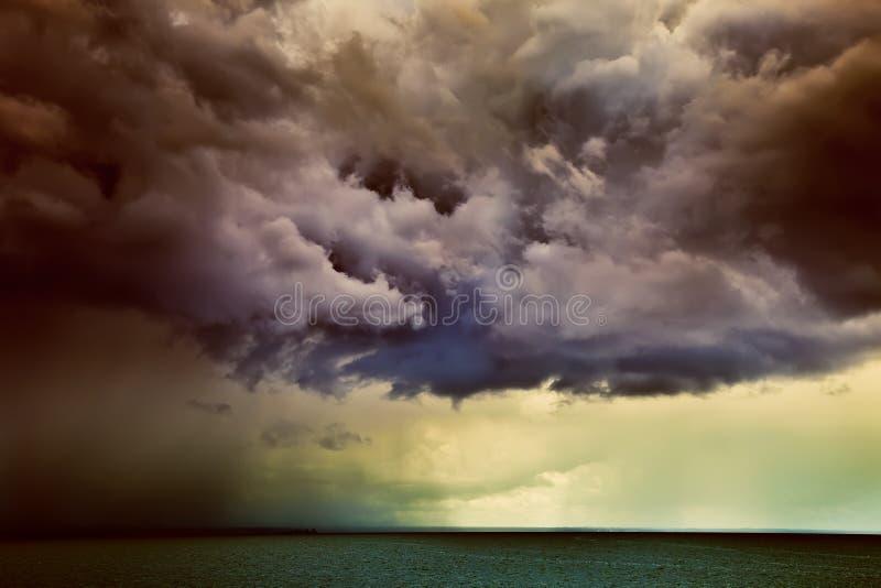 Download Dramatic clouds stock image. Image of dark, horizon, space - 15720809