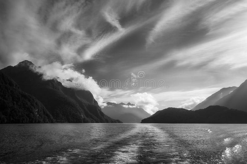 Download Dramatic Clouds And Alpine Scenery At Lake Manapouri In Black An Stock Photo - Image of destination, attraction: 118598464