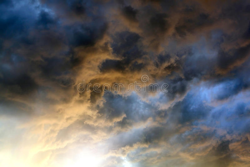 Dramatic Clouds Background royalty free stock image