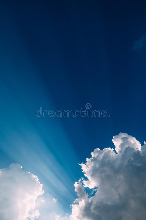 Dramatic clouds royalty free stock photo