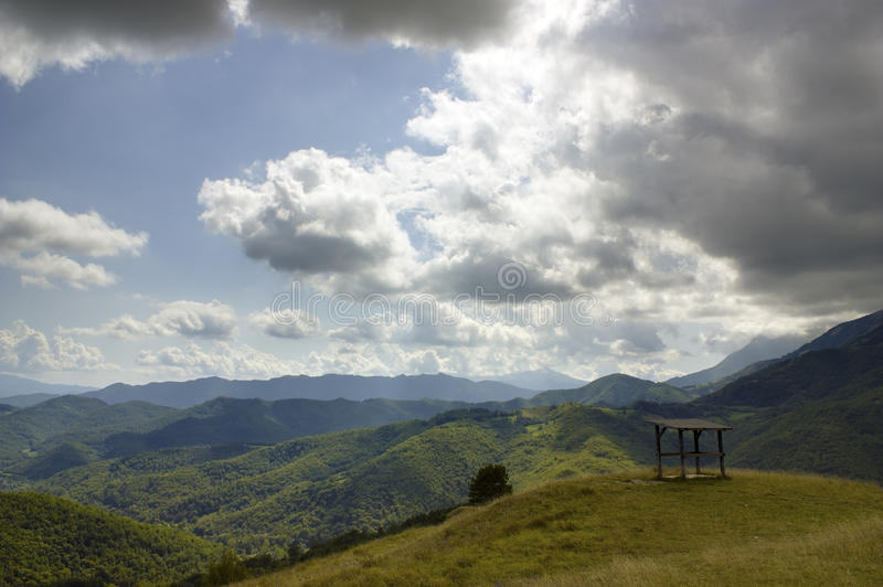 Download Dramatic Clouds Over The Mountain. Stock Photos - Image: 21349513