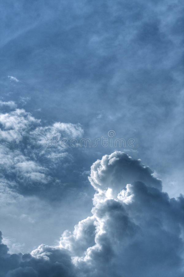 Dramatic clouds in the sky royalty free stock images