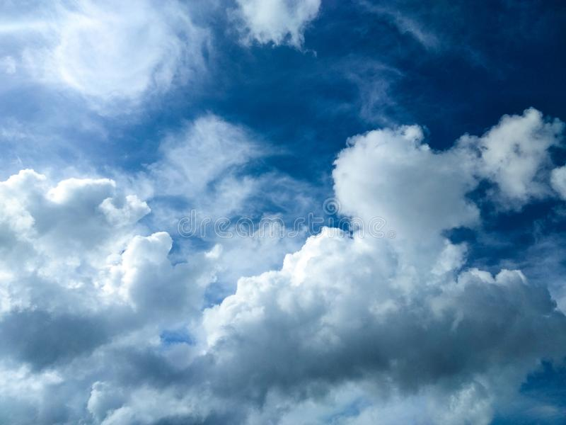 Stormy Cloudscape In The Blue Sky stock photos