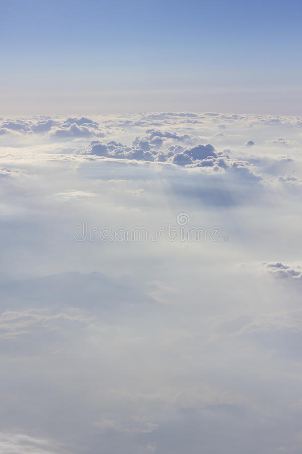 Dramatic Cloudscape From Above Royalty Free Stock Image
