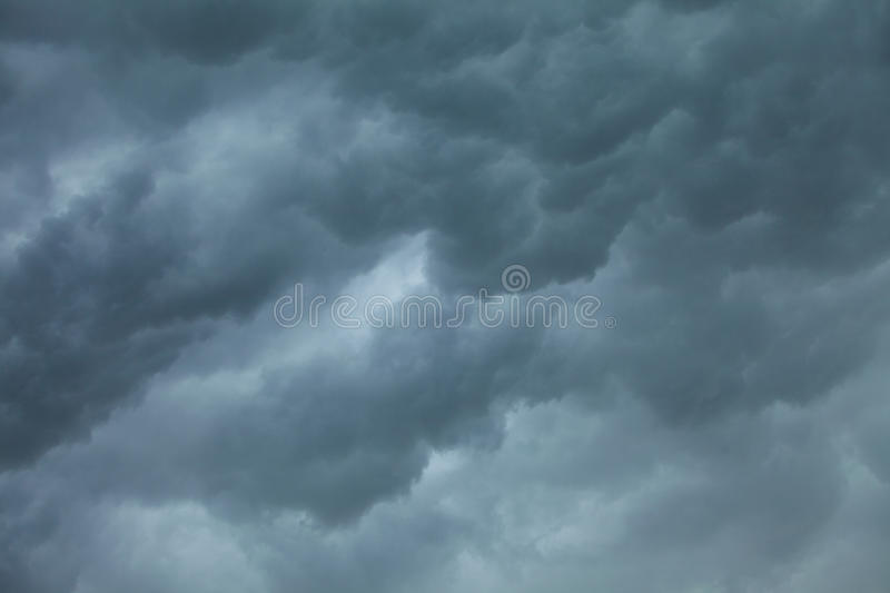 Dramatic cloudscape. Stormy clouds on the sky. stock image