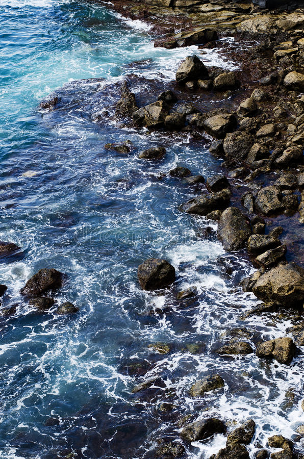 Dramatic coast, Grand canaria royalty free stock photo