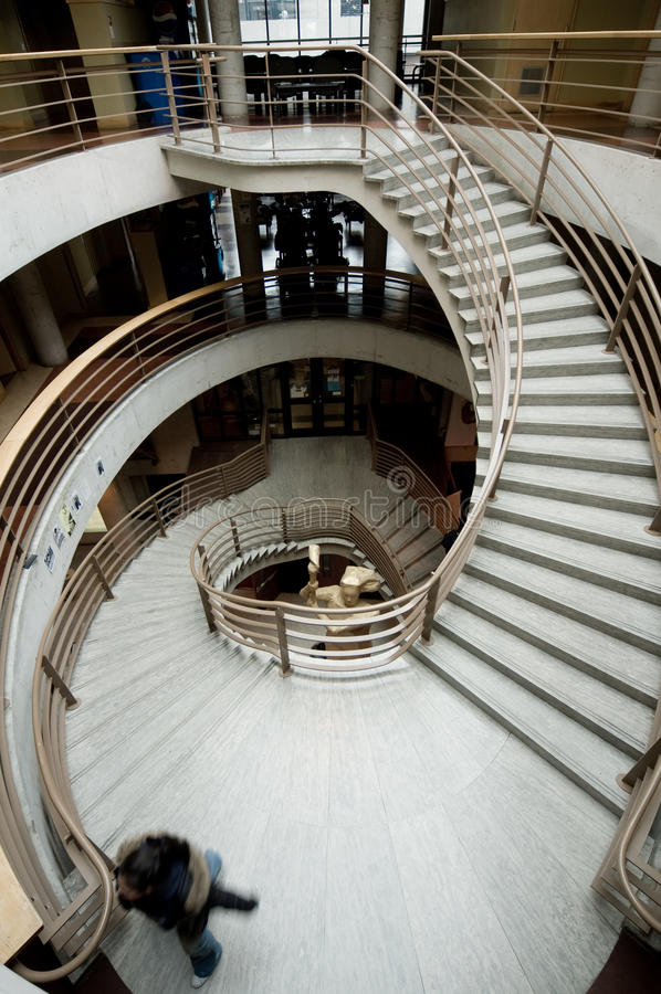Free Dramatic Curving Staircase Stock Image - 13324061