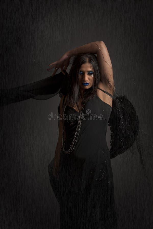 Dramatic dark angel