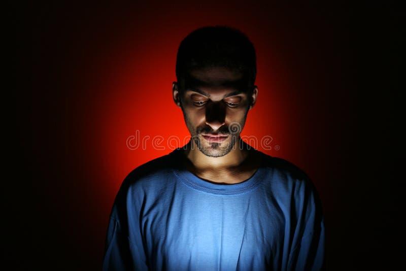 Dramatic Dark Portrait Royalty Free Stock Photo