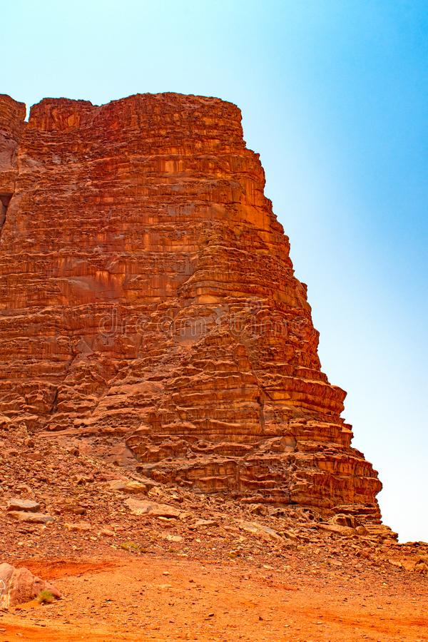 Dramatic Escarpment in the Desert stock photography