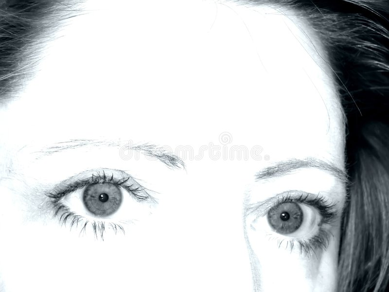 Download Dramatic Eyes stock photo. Image of brow, insight, view - 62218