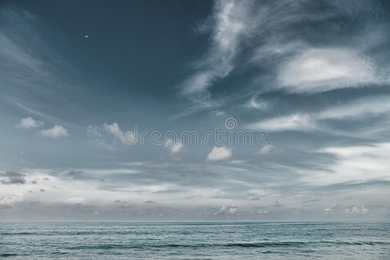 Download Dramatic Grey Sea And Sky Background Template Stock Image - Image of background, island: 106387505
