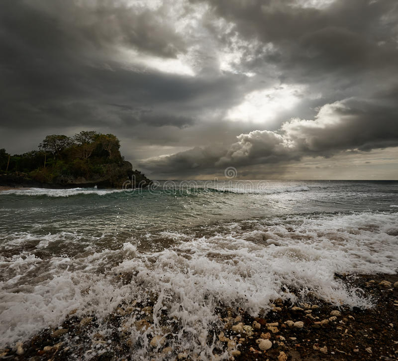Free Dramatic Landscape - Dark Stormy Sky And Sunlight, Sea Waves, Co Royalty Free Stock Image - 51966136