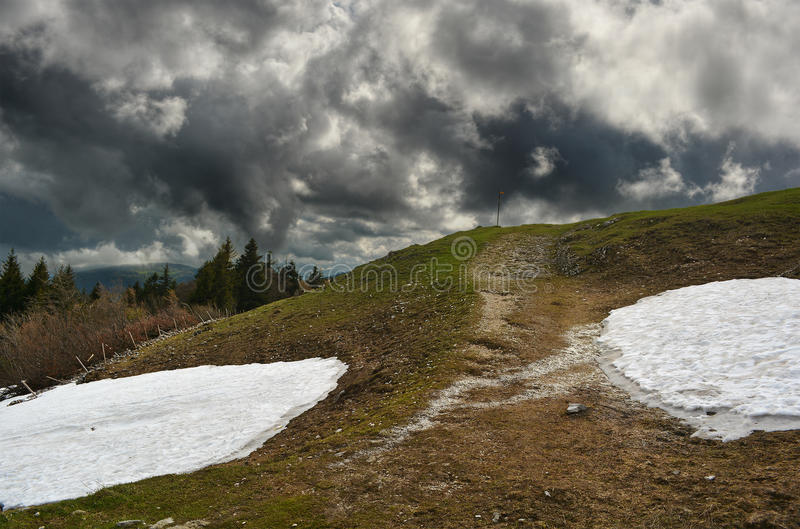 Dramatic Landscape HDR royalty free stock photography