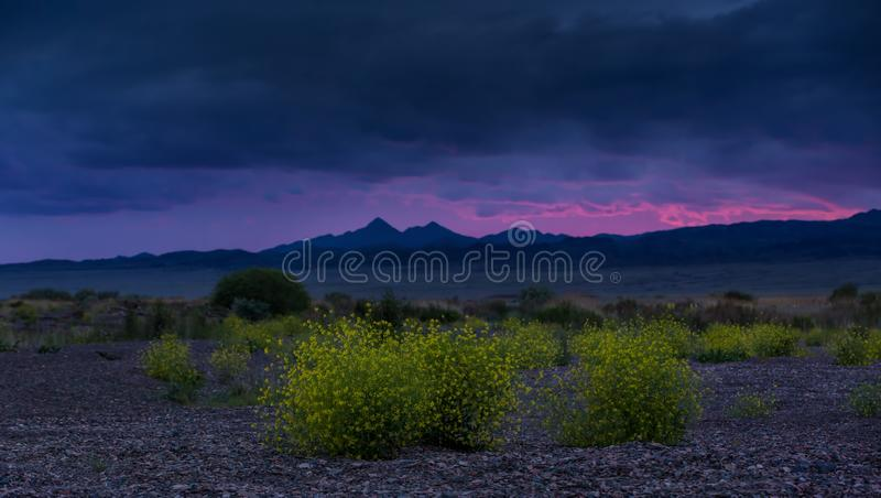 dramatic landscape on the lake, best view royalty free stock photography