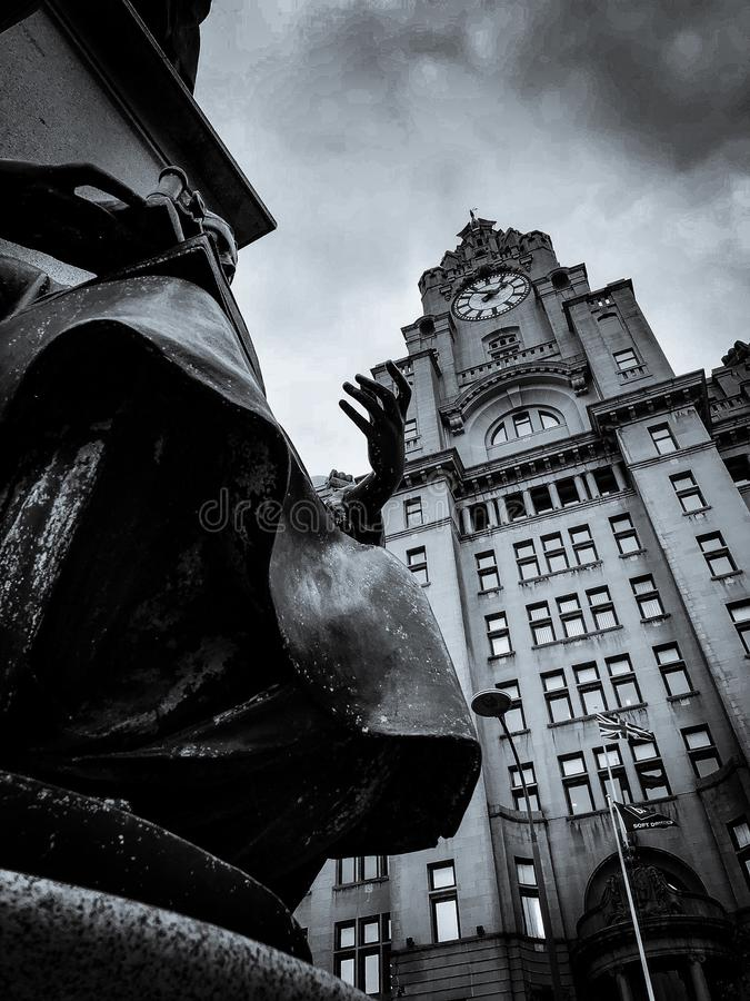 Dramatic Liver Building stock image