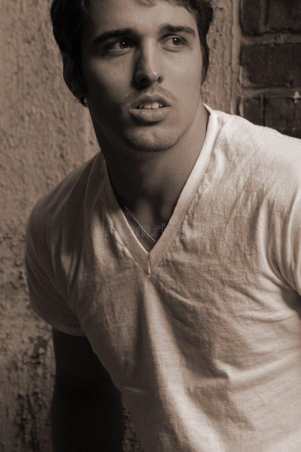 Dramatic male model stock photos