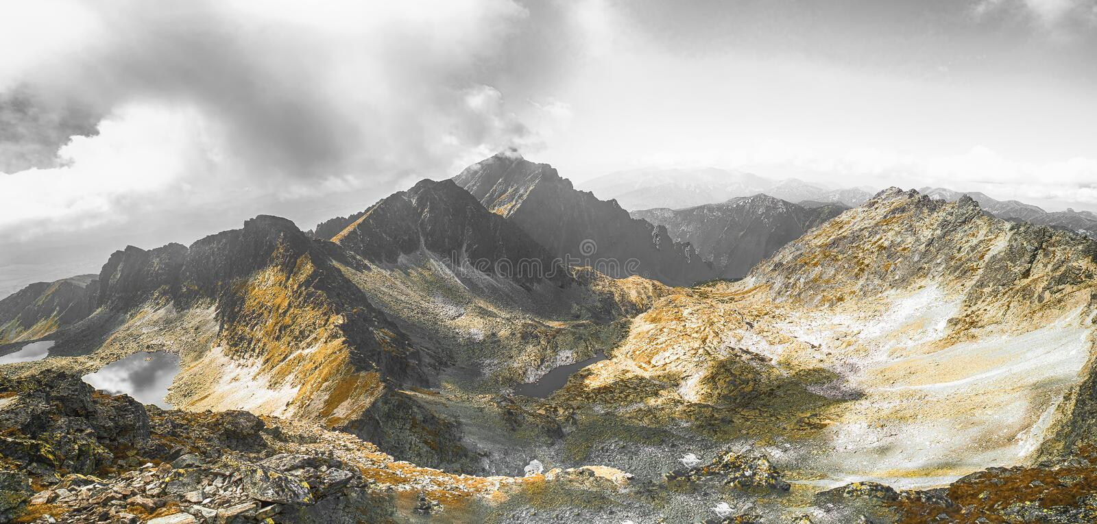 Dramatic mountains royalty free stock photography