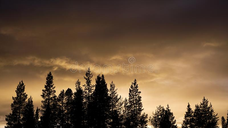 Dramatic dark clouds. Dramatic night sky before the rain comes royalty free stock photos