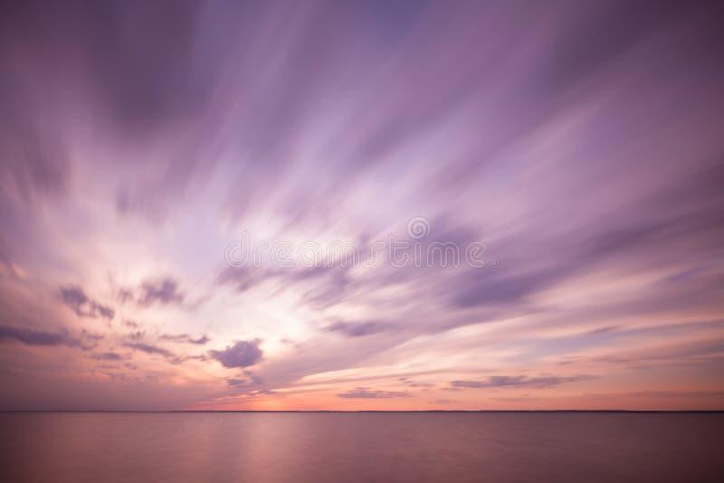 Dramatic ocean sunset royalty free stock photos