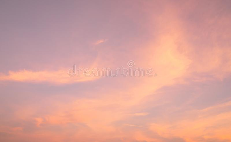 Dramatic pink sky and clouds abstract background. Art picture of pink clouds texture. Beautiful sunset sky. Sunset abstract royalty free stock images