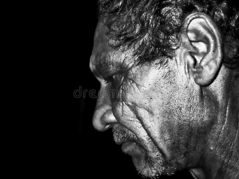 Download Dramatic portrait stock photo. Image of head, background - 17756076