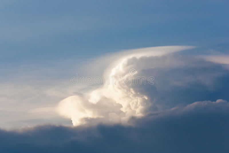 Dramatic rainy cloudscape stock photos