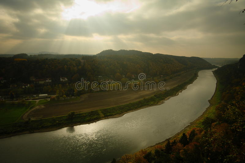 Dramatic river royalty free stock image