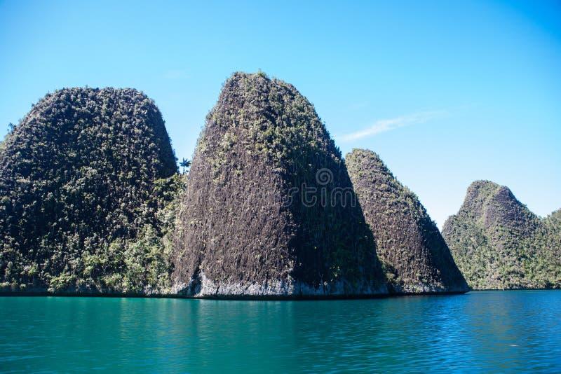 Dramatic Limestone Islands in Wayag, Raja Ampat stock images