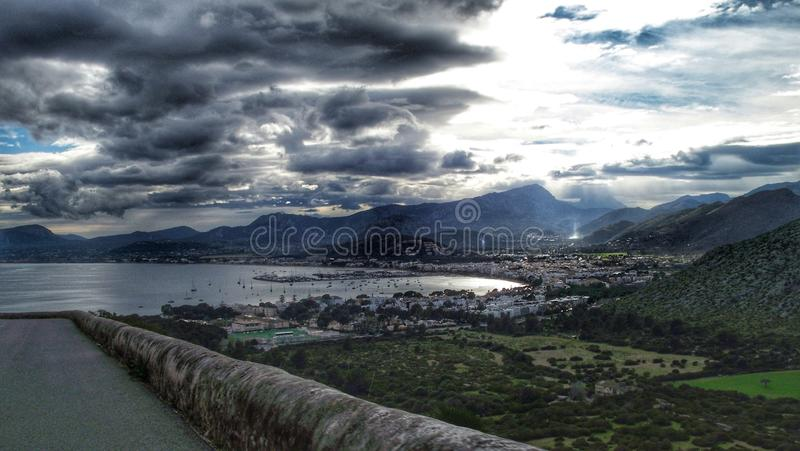 Dramatic scene in Alcudia royalty free stock images