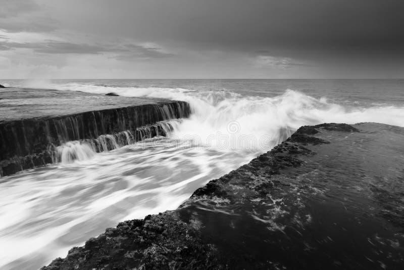 Dramatic seascape at Tanah Lot, Bali royalty free stock image