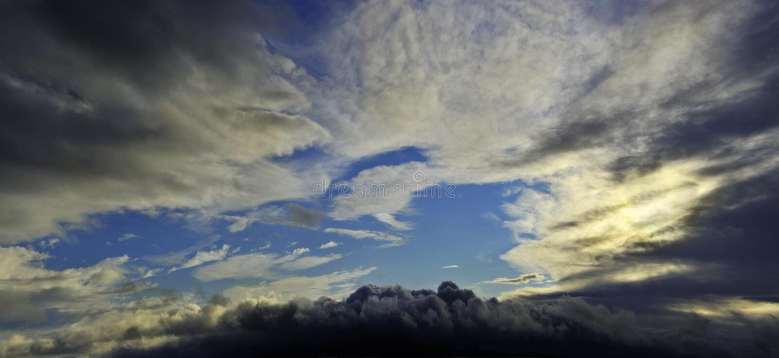 Dramatic sky. Dramatic evening sky with clouds stock images