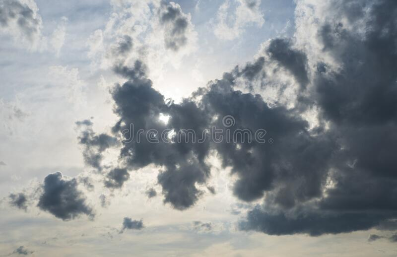 Dramatic Sky with beautiful spring clouds stock photos