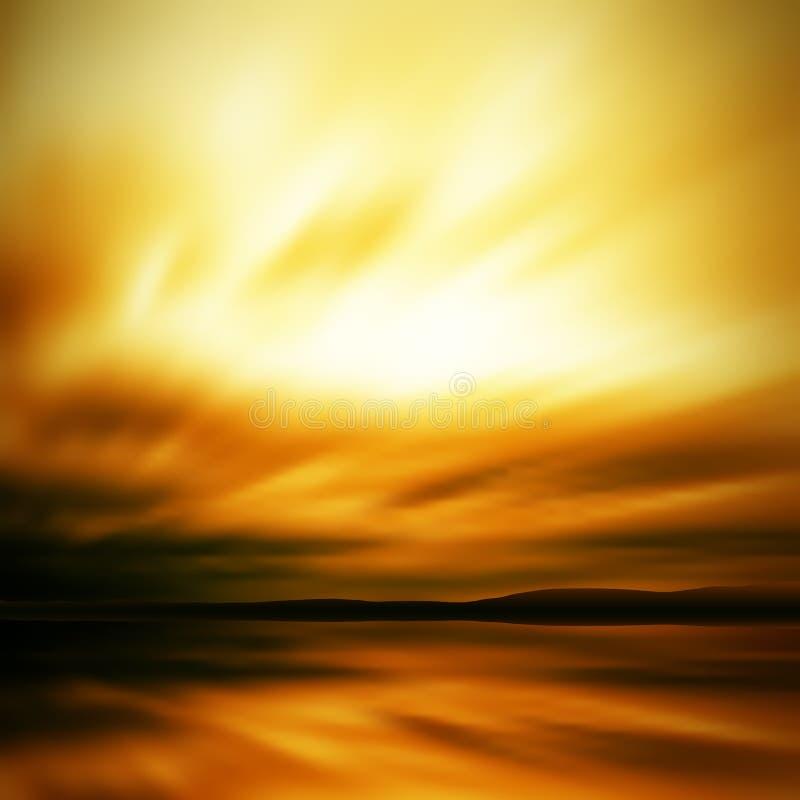 Dramatic sky blur royalty free illustration