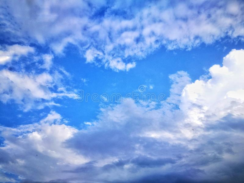 the dramatic sky and clouds background. stock photo