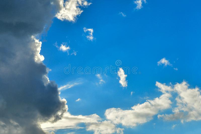 The dramatic sky and clouds background. Nature royalty free stock images