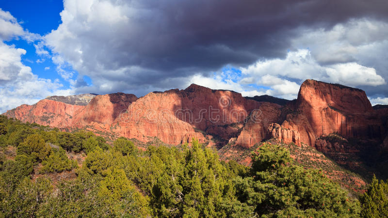 Dramatic Sky over Kolob Canyons royalty free stock images