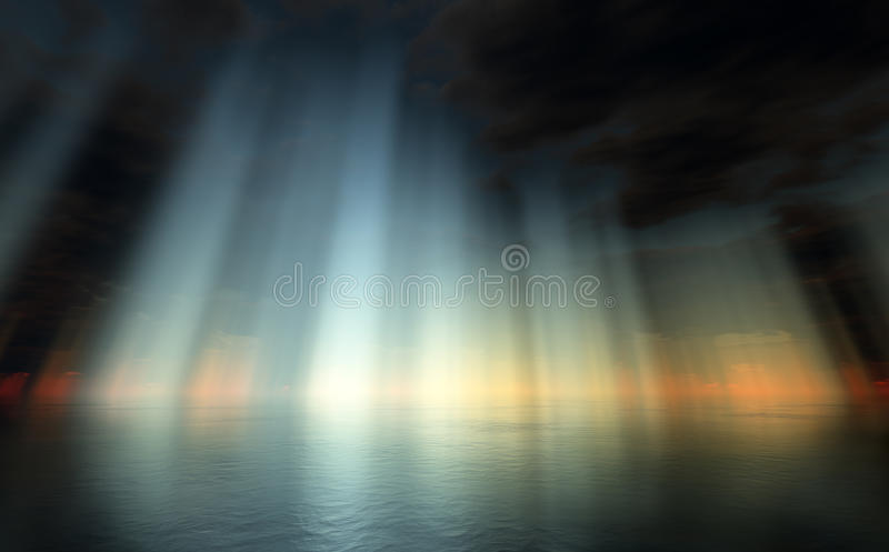 Download Dramatic Sky Over Sea Royalty Free Stock Photos - Image: 11232778