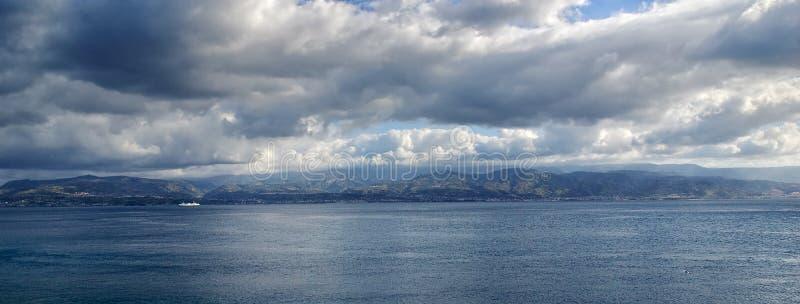 Dramatic sky over sea stock image