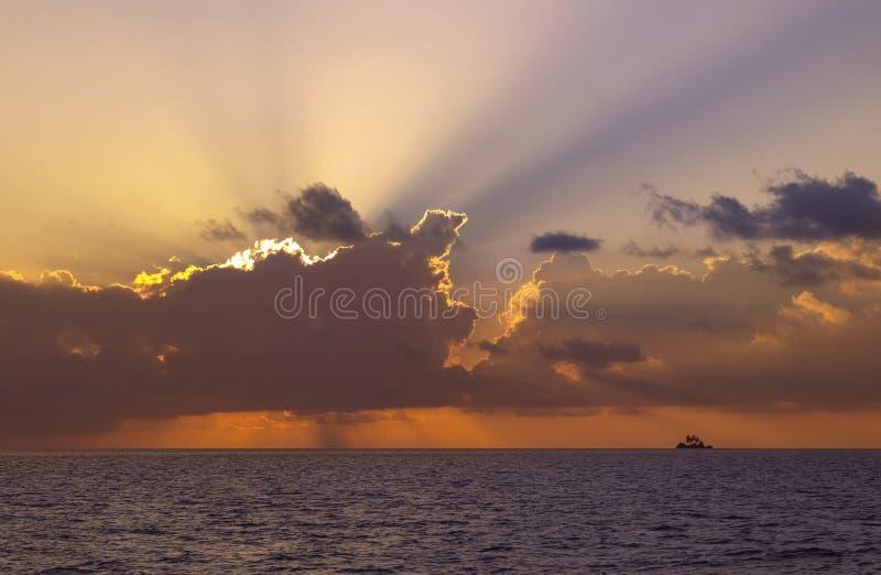 Dramatic Sky - South Ari Atoll - The Maldives royalty free stock photos