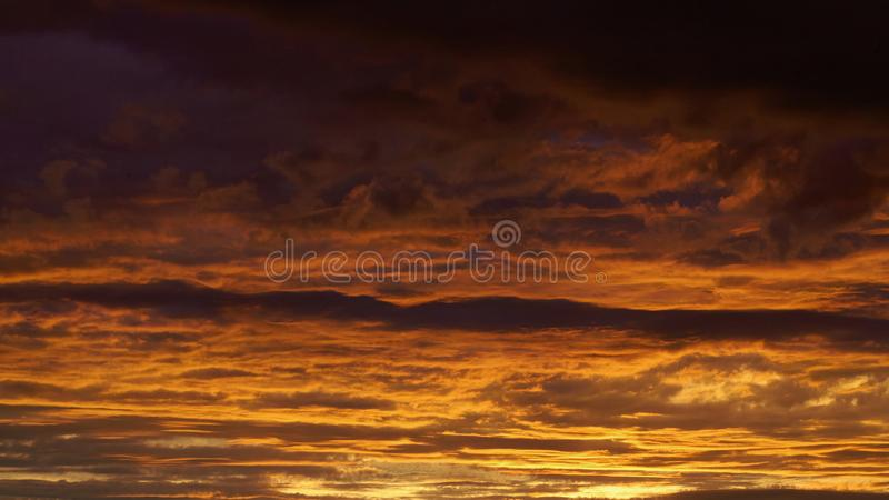 Dramatic sky sunset stock image